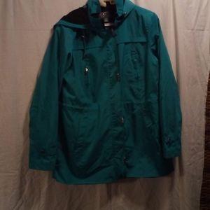 Gallery Teal Hooded Coat
